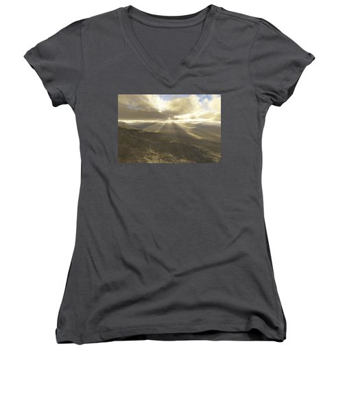 Great Valley Women's V-Neck T-Shirt (Junior Cut) by Mark Greenberg