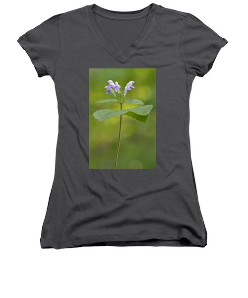 Hairy Skullcap II Women's V-Neck T-Shirt (Junior Cut)