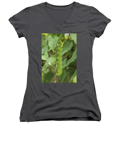 Women's V-Neck T-Shirt (Junior Cut) featuring the photograph Hangin' Around by Kay Lovingood