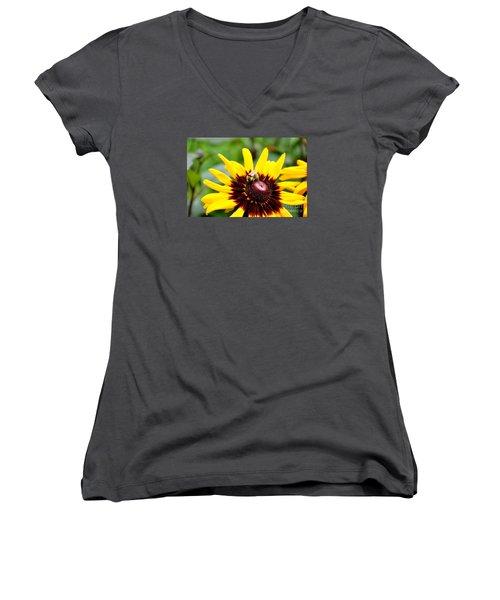 Happy Rudbeckia Women's V-Neck T-Shirt (Junior Cut) by Tanya  Searcy