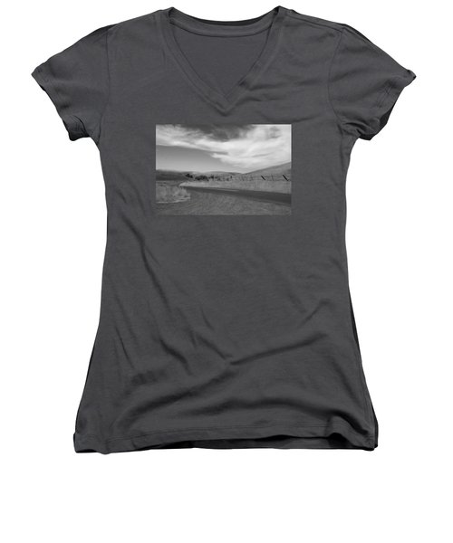 Women's V-Neck T-Shirt (Junior Cut) featuring the photograph Heading Inland by Kathleen Grace