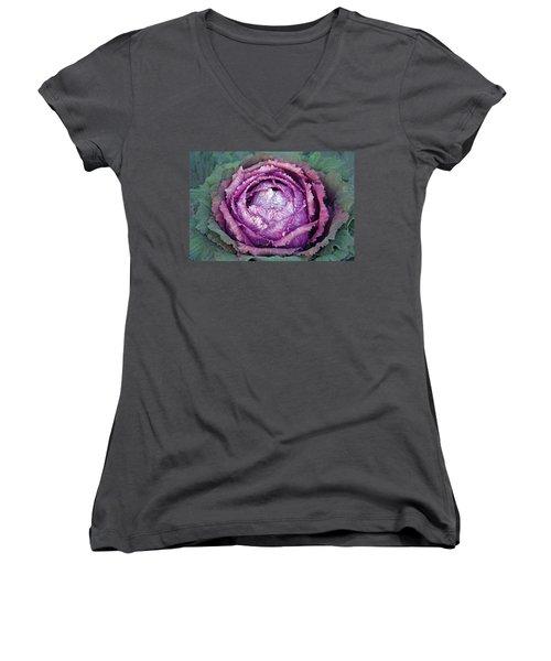 Heart Of Mystery Women's V-Neck T-Shirt (Junior Cut) by Lynda Lehmann