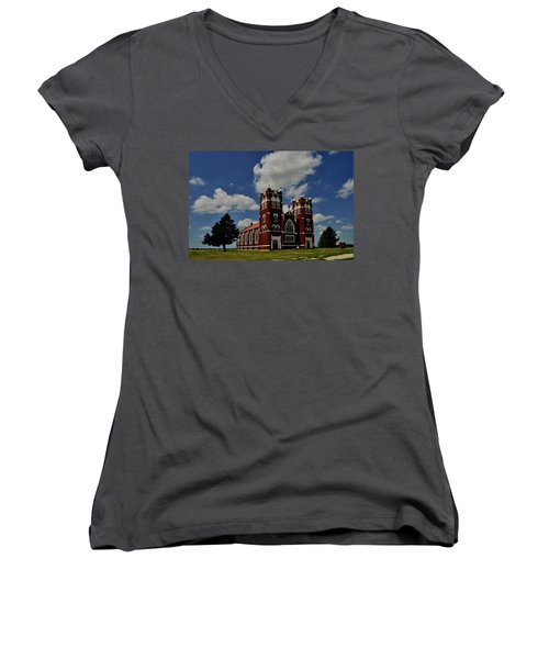 Heavenly Sky Women's V-Neck T-Shirt (Junior Cut) by Brian Duram