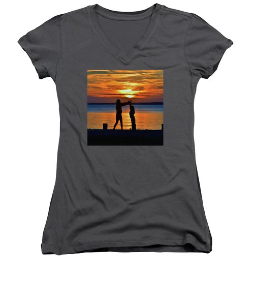 High 5 Women's V-Neck (Athletic Fit)
