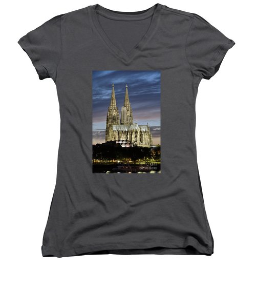 High Cathedral Of Sts. Peter And Mary In Cologne Women's V-Neck