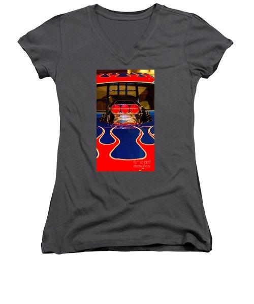 Hot Rod 1 Women's V-Neck T-Shirt
