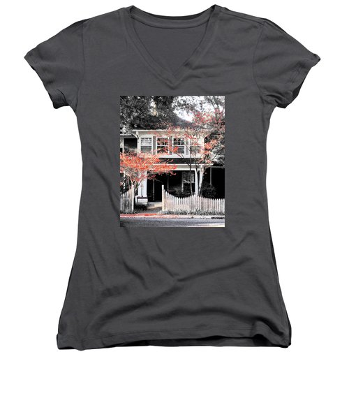 House In Cooper Young Women's V-Neck