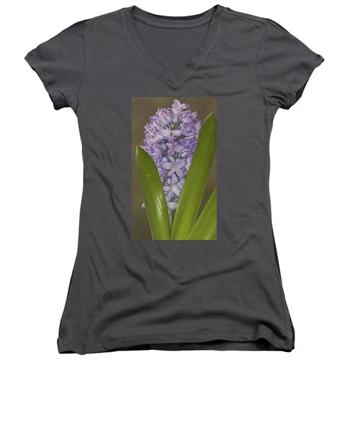 Hyacinth In Full Bloom Women's V-Neck (Athletic Fit)