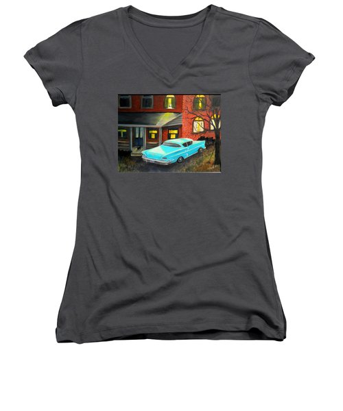 In For The Night Women's V-Neck (Athletic Fit)