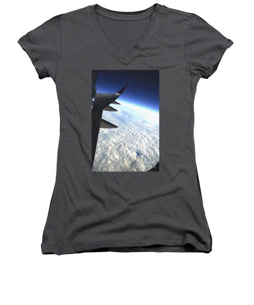 in Orbit Women's V-Neck T-Shirt
