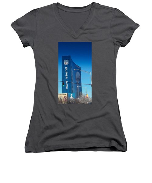 Indianapolis Marriott Welcomes Super Bowl 46 Women's V-Neck