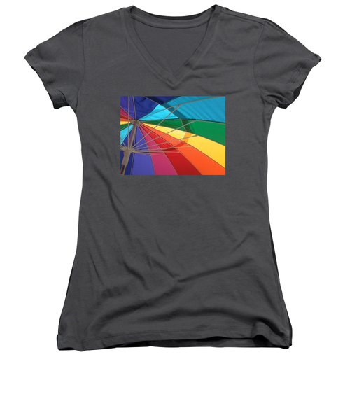 Women's V-Neck T-Shirt (Junior Cut) featuring the photograph It's A Rainbow by David Pantuso