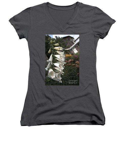 Ivory Foxglove Women's V-Neck T-Shirt