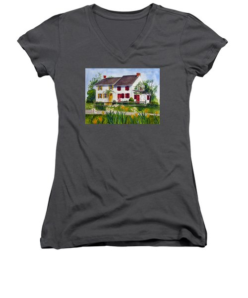 John Abbott House Women's V-Neck T-Shirt (Junior Cut)