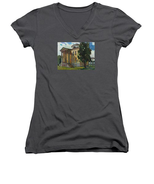 July Day In Russian Estate Women's V-Neck T-Shirt