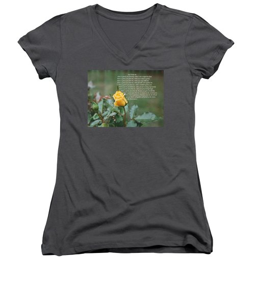 Just From Me Women's V-Neck T-Shirt