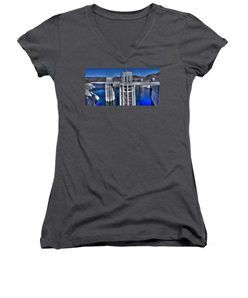 Lake Mead Hoover Dam Women's V-Neck (Athletic Fit)