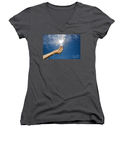 Lamp Bulb Women's V-Neck