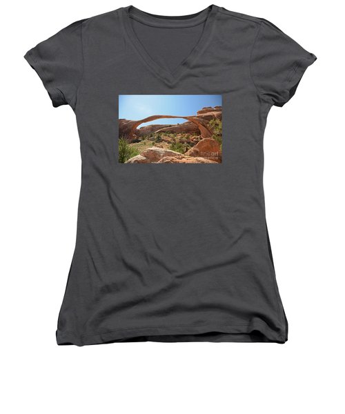 Landscape Arch Women's V-Neck T-Shirt