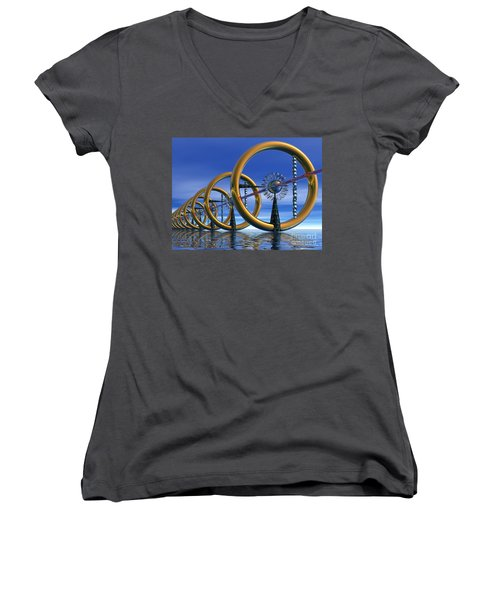 Laser Women's V-Neck T-Shirt