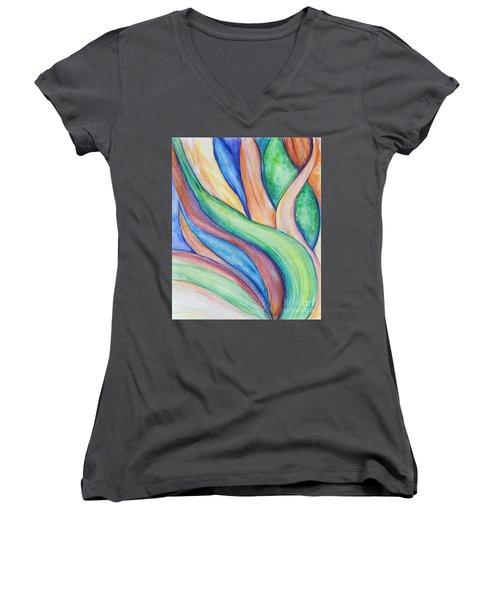 Leaves Women's V-Neck T-Shirt