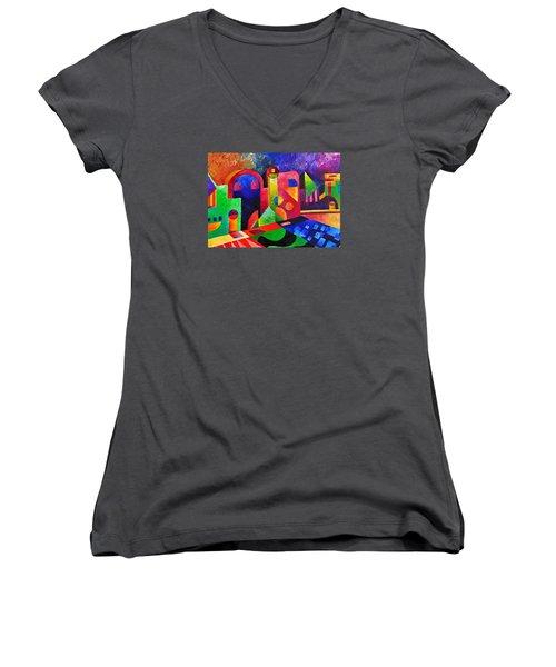 Little Village By Sandralira Women's V-Neck T-Shirt