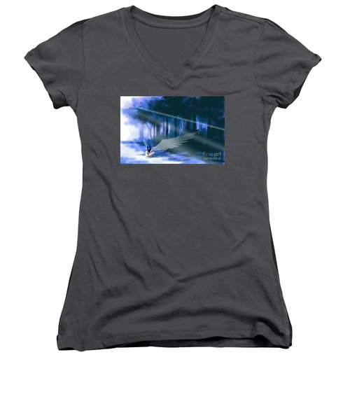 Looking For Light Women's V-Neck (Athletic Fit)