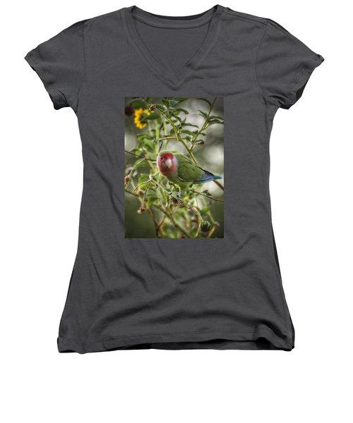 Lovely Little Lovebird Women's V-Neck T-Shirt