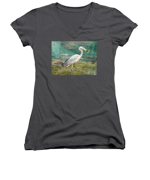 Lunchtime Women's V-Neck (Athletic Fit)