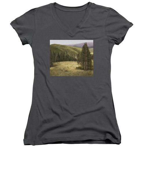 Majesty In The Rockies Women's V-Neck (Athletic Fit)