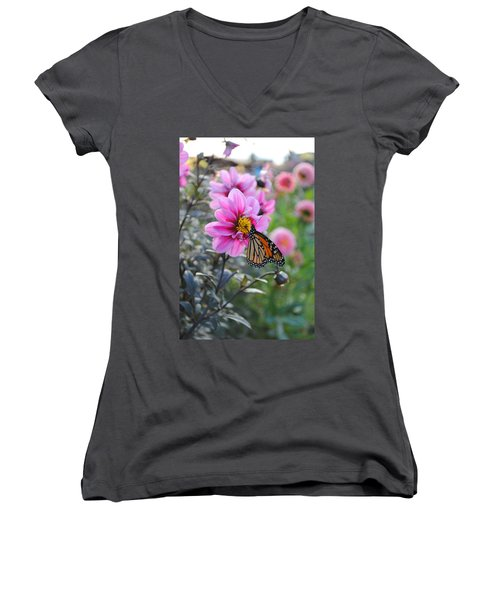 Women's V-Neck T-Shirt (Junior Cut) featuring the photograph Making Things New by Michael Frank Jr