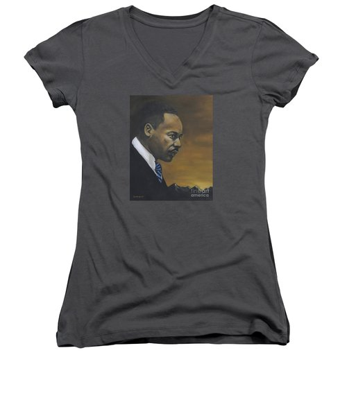 Martin Luther King Jr - From The Mountaintop Women's V-Neck