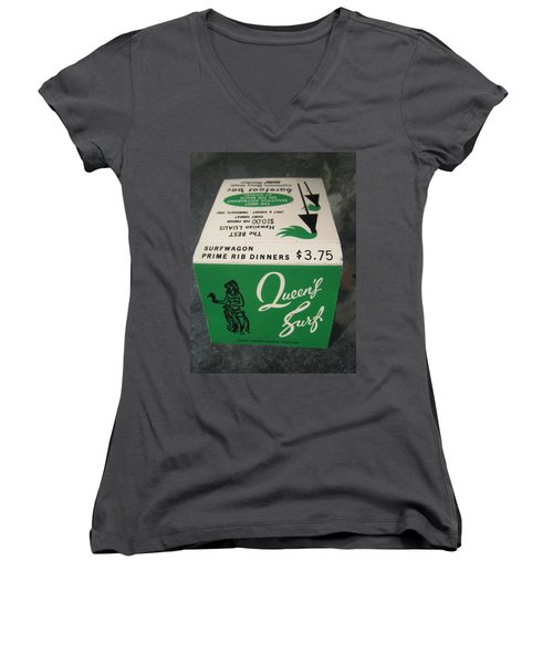 Women's V-Neck T-Shirt (Junior Cut) featuring the photograph Matchbooks For Hawaii Two by John King