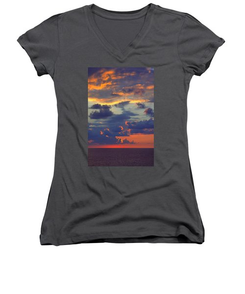 Mediterranean Sky Women's V-Neck (Athletic Fit)