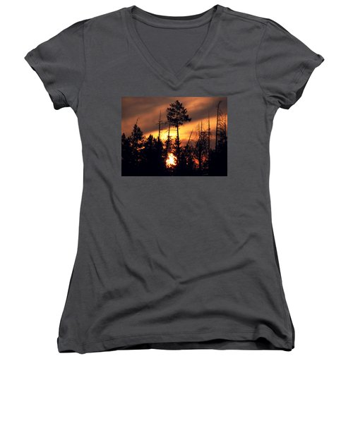 Melting Skies Women's V-Neck (Athletic Fit)