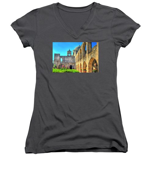 Mission Courtyard Women's V-Neck