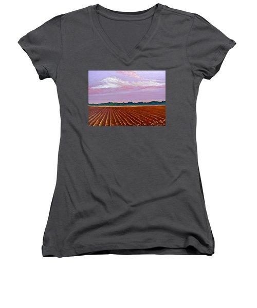 Mississippi Land And Sky Women's V-Neck