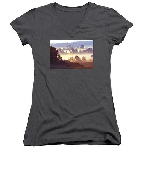 Morning Fog Women's V-Neck T-Shirt