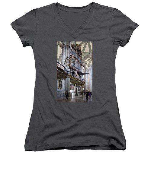Women's V-Neck T-Shirt (Junior Cut) featuring the photograph Music On High by Lynn Palmer