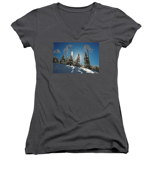 New Fallen Snow Women's V-Neck T-Shirt
