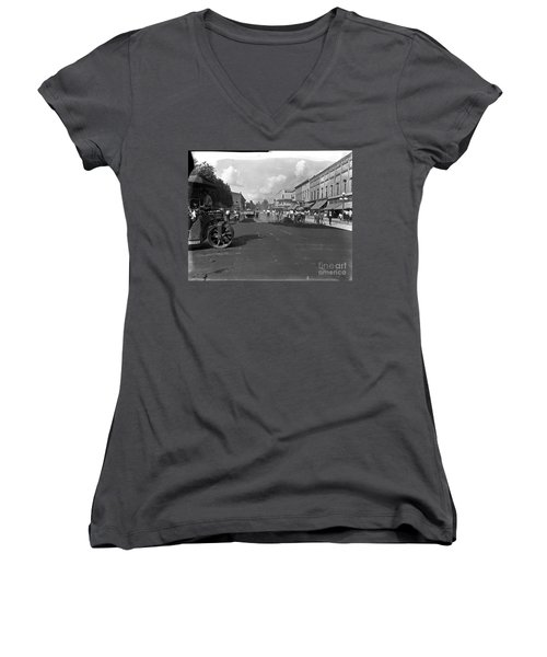 No More Dirt Streets Women's V-Neck (Athletic Fit)