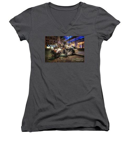 Nypd Bikes Women's V-Neck T-Shirt