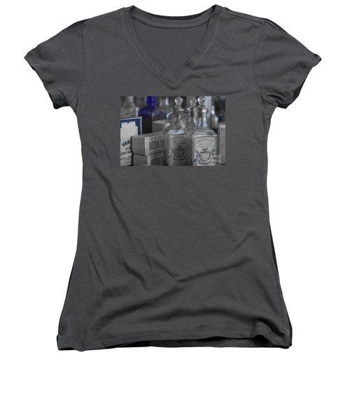 Women's V-Neck T-Shirt (Junior Cut) featuring the photograph Old West 13 by Deniece Platt