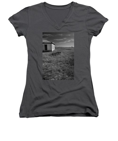 Women's V-Neck featuring the photograph On The Hi-lo Plains by Ron Cline