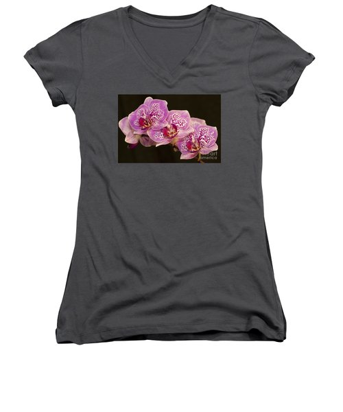 Women's V-Neck T-Shirt (Junior Cut) featuring the photograph Orchids by Eunice Gibb