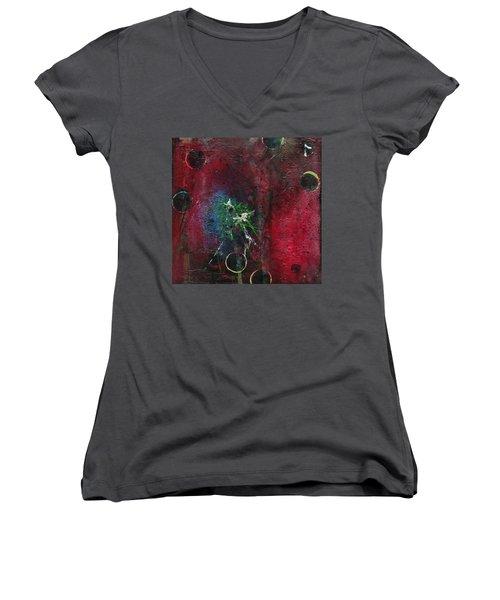 Passion 1 Women's V-Neck T-Shirt (Junior Cut) by Nicole Nadeau