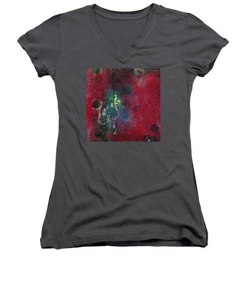 Passion 3 Women's V-Neck T-Shirt (Junior Cut) by Nicole Nadeau