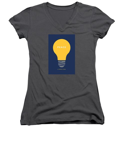 Peace A Simple Idea Women's V-Neck T-Shirt