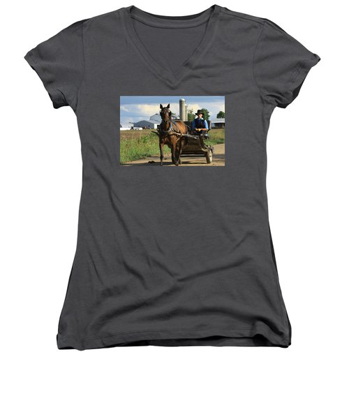 Peaceful Road Women's V-Neck T-Shirt