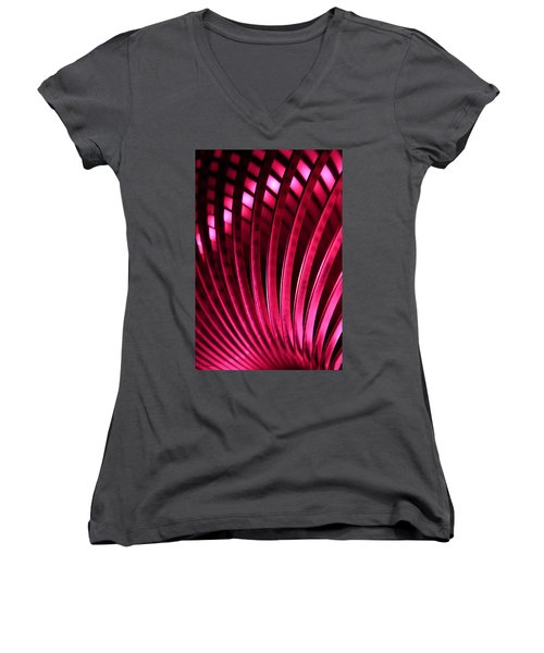 Women's V-Neck T-Shirt (Junior Cut) featuring the photograph Poetry Of Light by Lauren Radke